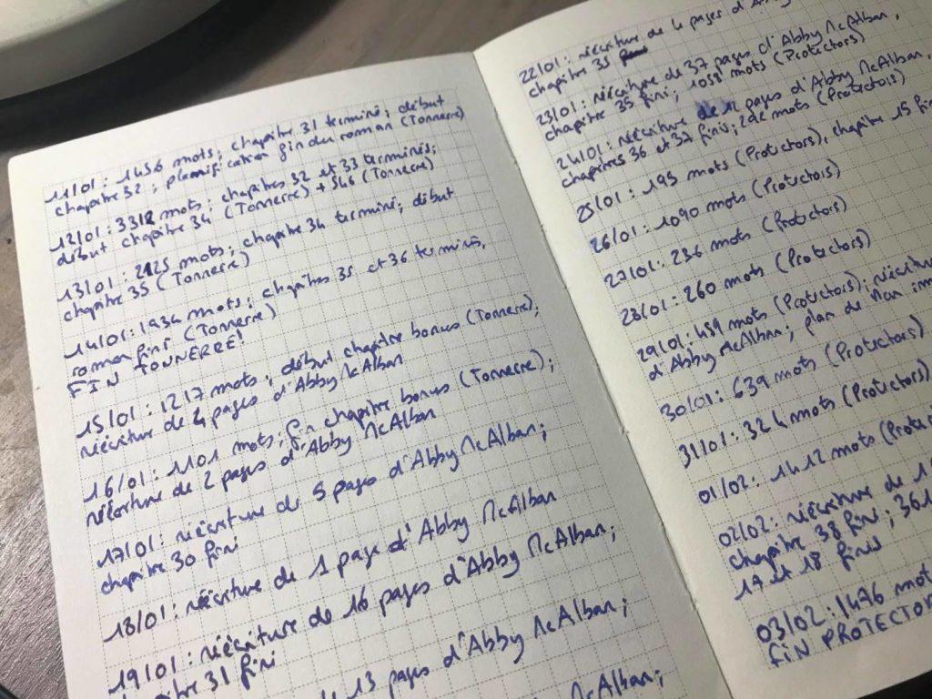 Journal d'écriture Mélany Bigot
